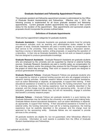 Graduate Assistant and Fellowship Appointment Process