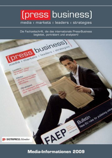 Press Business Mediaunterlagen 2009:Press ... - Presse Fachverlag