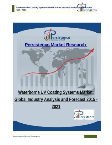 Waterborne UV Coating Systems Market: Global Industry Analysis and Forecast 2015 - 2021