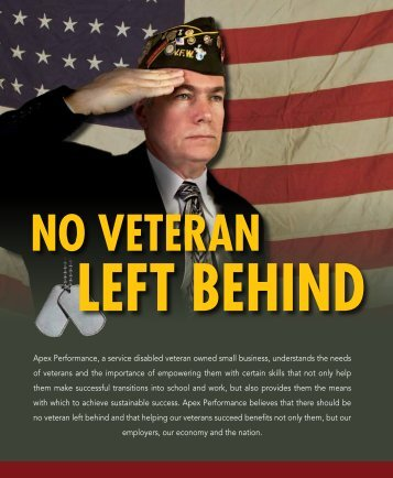 to download the Veterans Brochure (PDF) - Apex Performance