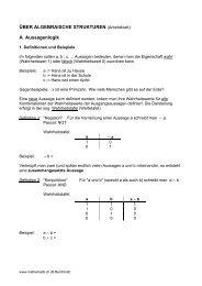 A Aussagenlogik - Mathematik.ch