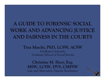 a copy of the presentation - National Organization of Forensic Social ...