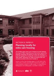 Paper 1: Planning locally for extra care housing - Institute of Public ...