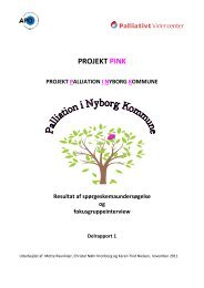 PROJEKT PINK - Palliativt Videncenter