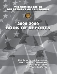 2009 Book of Reports - American Legion
