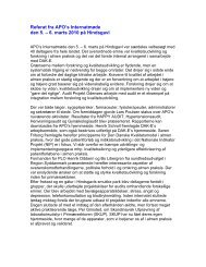 Referat fra APO's Internatmøde den 5. – 6. marts ... - APO Danmark