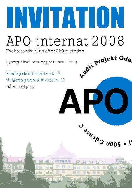 Fredag den 7. marts kl. 10 til lørdag den 8. marts kl ... - APO Danmark