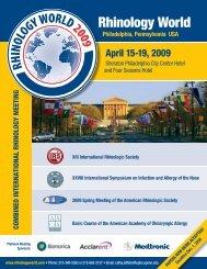 Download Rhinology World 2009 Brochure