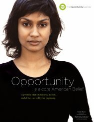 is a core American Belief. - The Opportunity Agenda