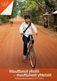 Muuttunut yksilö – muuttuneet yhteisöt - Fida Development