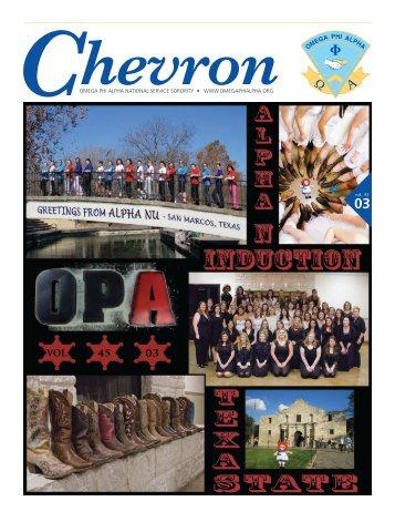 Spring 2013 - Omega Phi Alpha National Service Sorority