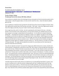 Sermon Notes The Sixth Sunday after the Epiphany, Year A ...