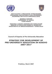 strategy for development of pre-university education in kosovo 2007 ...