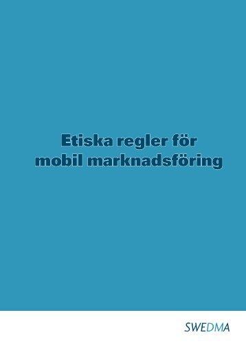 Etiska regler för mobil marknadsföring - Swedma
