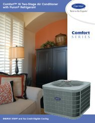 Comfort 16 Two Stage Air Conditioner with Puron Refrigerant