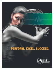 to download the Sports Brochure (PDF). - Apex Performance
