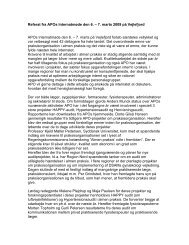 Referat fra APOs Internatmøde den 6. – 7. marts ... - APO Danmark