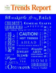 Designer Section Trends Committee Report July 1 2015 CHA Approved web