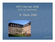 8. Marts 2008 - APO Danmark