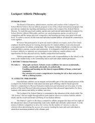Lockport Athletic Philosophy - Lockport City School District
