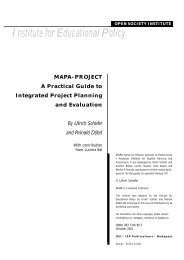 MAPA-PROJECT A Practical Guide to Integrated Project Planning ...