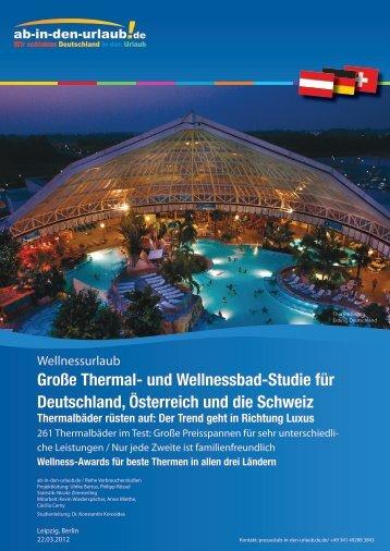 Große Thermal- und Wellnessbad-Studie für ... - Presse.Unister.de