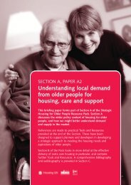Understanding local demand from older people for housing, care ...