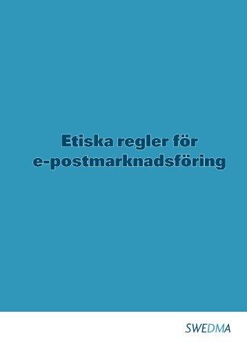 Etiska regler för e-postmarknadsföring - Swedma