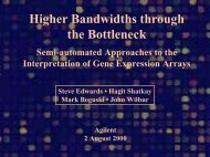 Higher Bandwidths through the Bottleneck - Boguski, Mark S.
