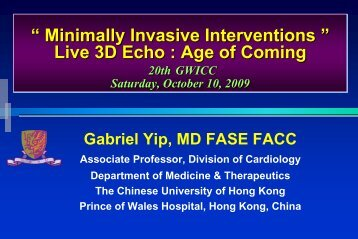 The application of TDI and 3D Echo in CRT Era Advanced 3D and ...