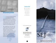 Trifold brochure - Society of Environmental Journalists