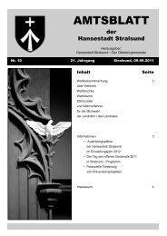 Amtsblatt Nr. 10 - Hansestadt Stralsund