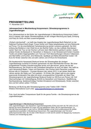 pressemitteilung - DJH Jugendherbergen Mecklenburg-Vorpommern