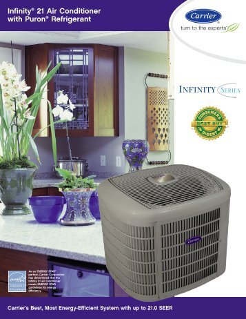 Infinity 21 Air Conditioner with Puron Refrigerant - Standard Heating ...