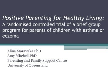 Asthma and Eczema - Helping Families Change Conference