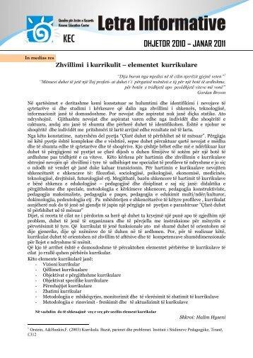 DHJETOR 2010 – JANAR 2011 - Qendra për Arsim e Kosovës