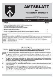 Amtsblatt Nr. 6 - Hansestadt Stralsund