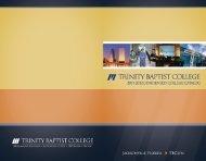 College Catalog - Trinity Baptist College