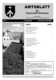 AMTSBLATT - Hansestadt Stralsund