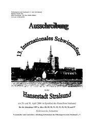 am 29. und 30. April 2006 im Sportbad des HanseDom Stralsund ...