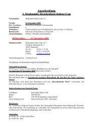 Ausschreibung 3. Stralsunder Drachenboot-Indoor-Cup