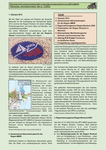 Inhalt m - Planungsverband Region Rostock