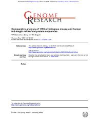 full-length mRNA and protein sequences ... - Markboguski.net