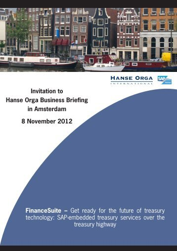 Invitation to Hanse Orga Business Briefing in ... - Hanse Orga AG