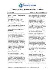 Transportation Coordination Best Practices - CoordinateMNTransit.org