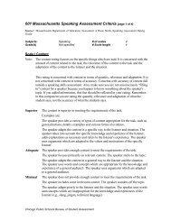 601 Massachusetts Speaking Assessment Criteria (page 1 of 4)