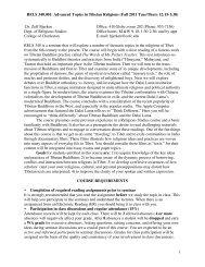 RELS 340 Tibetan Buddhism - Department of Religious Studies