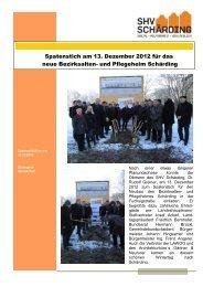 Spatenstich Neubau BAPH Schärding - SHV