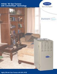 Carrier Infinity 80% - from Armbrust Plumbing Heating and Air ...