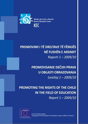Report of the situation of children's rights in the field of education